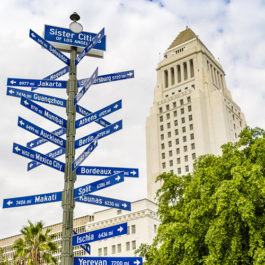 LA city signpost