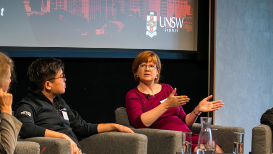 Panelists at the UNSW Sydney launch