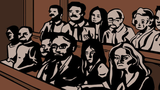 Illustration of trial jurors